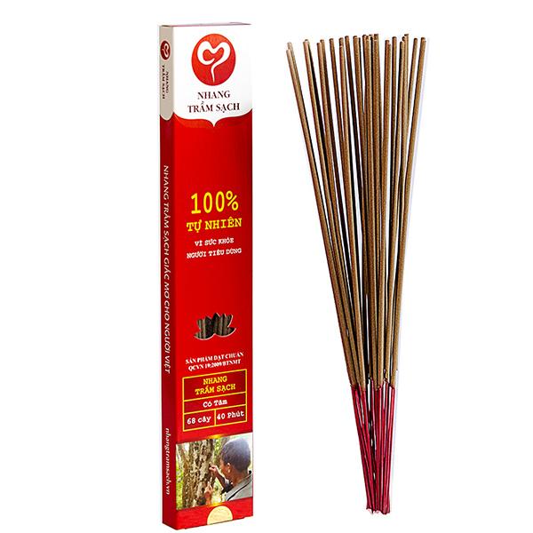Nhang Trầm Sạch - 40 cm (tăm đỏ)